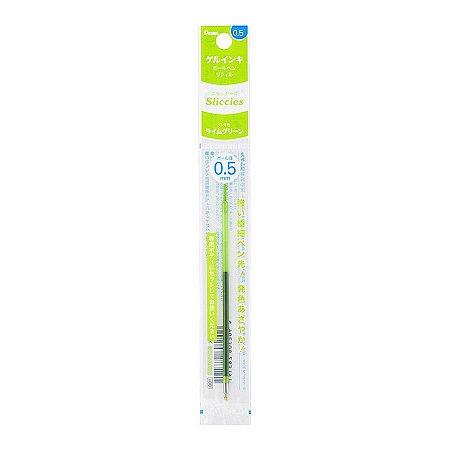 Refil Caneta Gel 0.5 Sliccies Iplus i+ Pentel - Lime Green Verde