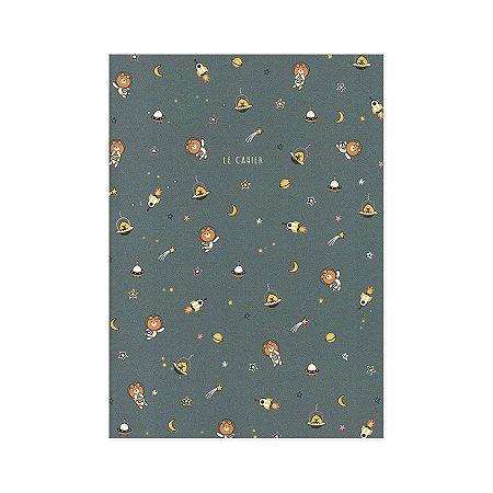 Caderno Brochura Le Cahier Galapagos Friends Astronauta Oliver Iren M - Artbox