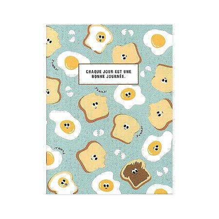 Caderno Brochura Chaque Jour Est Une... Pão de Forma Ovo Frito Verde M - Artbox
