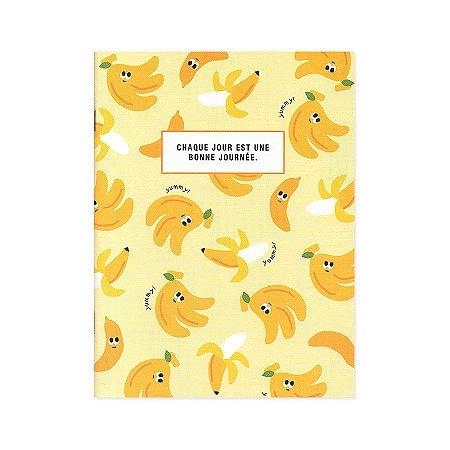 Caderno Brochura Chaque Jour Est Une... Banana Amarelo M - Artbox