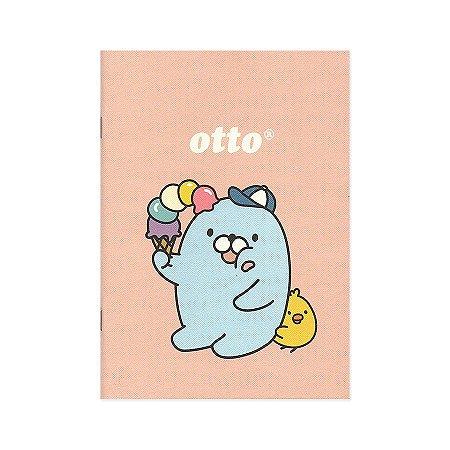 Caderno Brochura Otto Galapagos Friends Sorvete Rosa M - Artbox
