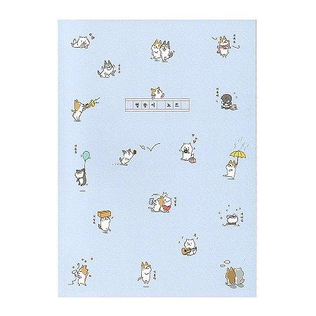 Caderno Brochura A Lump Of Notes Shiba & Skii Cachorrinhos Azul - Artbox