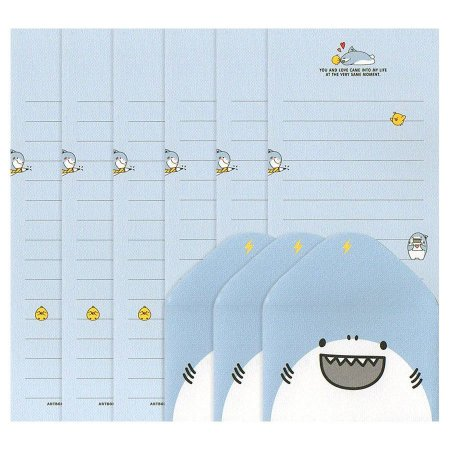 Papel de Carta Mini Letter Paper You and Love Tubarão Boss