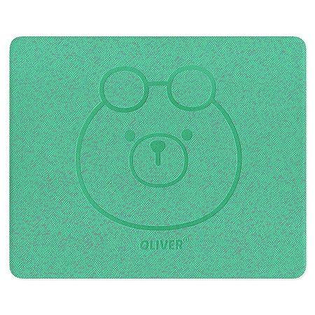 Mouse Pad Premium Oliver Galapagos Friends Verde Água - Artbox