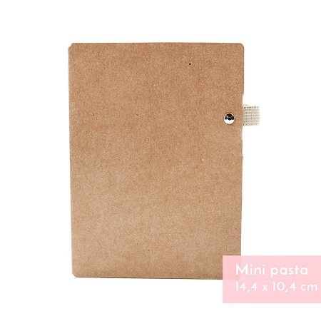 Mini Pasta Porta Caneta Kraft Para Mini Planner A.Craft