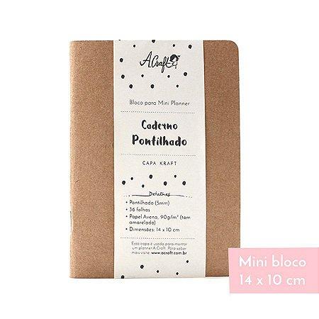 Mini Caderno Pontilhado Kraft Para Mini Planner A.Craft