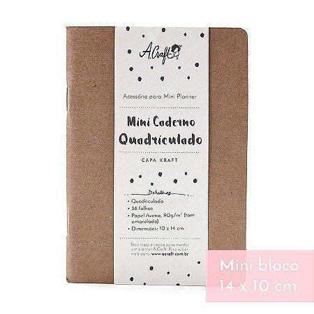 Mini Caderno Quadriculado Kraft Para Mini Planner A.Craft