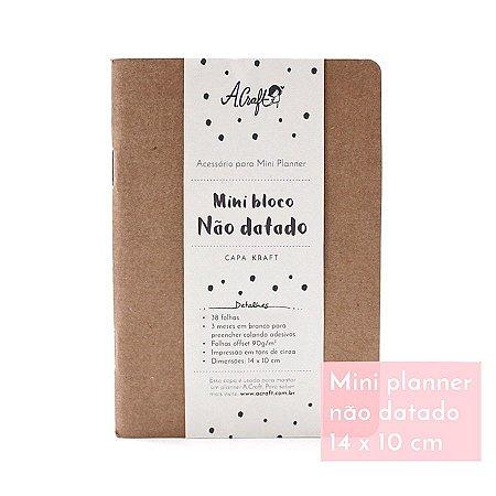 Mini Planner Não Datado Kraft Para Mini Planner A.Craft