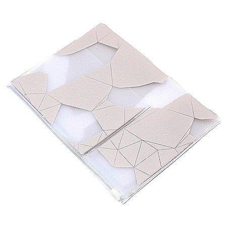 Pasta Plástica Com Zip Geometric Sand Para Planner A.Craft Tamanho Padrão
