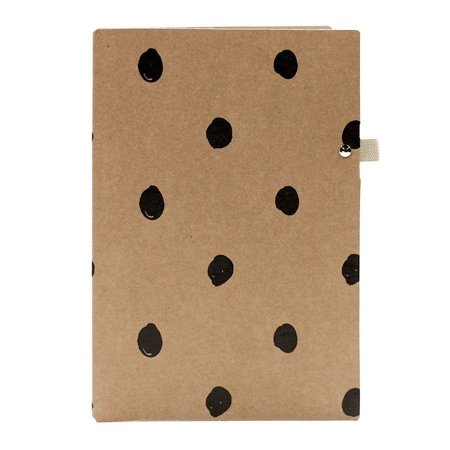 Pasta Porta Caneta Kraft Bolinhas Para Planner A.Craft Tamanho Padrão