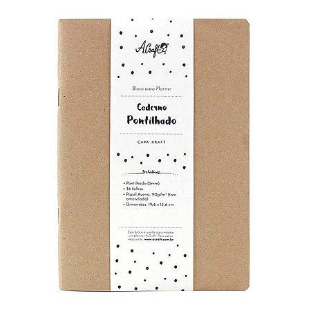 Caderno Pontilhado Kraft Para Planner A.Craft Tamanho Padrão
