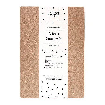 Caderno Sem Pauta Kraft Para Planner A.Craft Tamanho Padrão