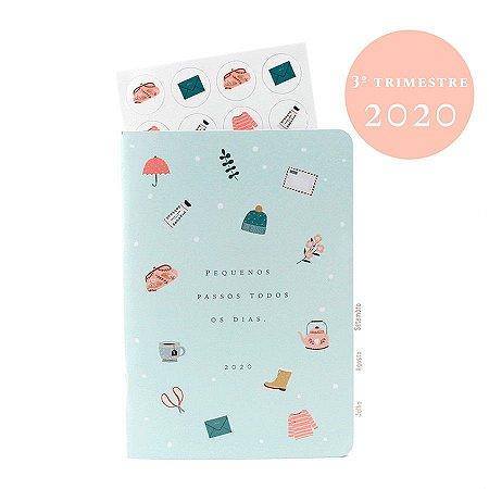 Planner Datado 3º Trimestre 2020 Colorido Para Planner A.Craft Tamanho Padrão