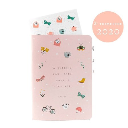 Planner Datado 2º Trimestre 2020 Colorido Para Planner A.Craft Tamanho Padrão