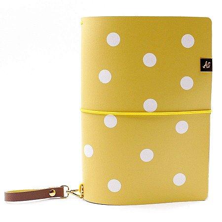 Capa Mustard Dots (Para 4 Blocos) Para Planner A.Craft Tamanho Padrão