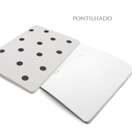 Caderno Pontilhado Off White Poá Para Planner A.Craft Tamanho Padrão