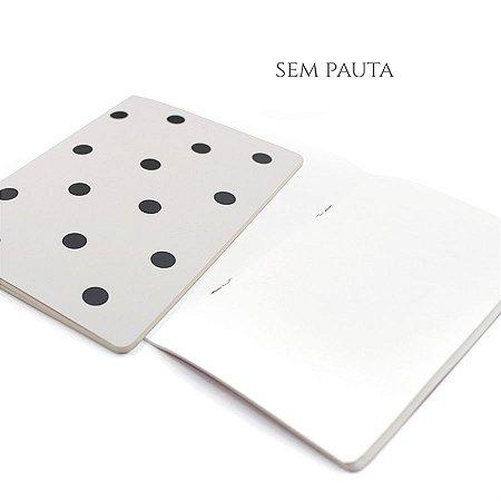 Caderno Sem Pauta Off White Poá Para Planner A.Craft Tamanho Padrão