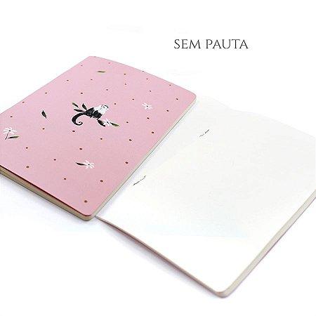 Caderno Sem Pauta Cute Monkey Para Planner A.Craft Tamanho Padrão