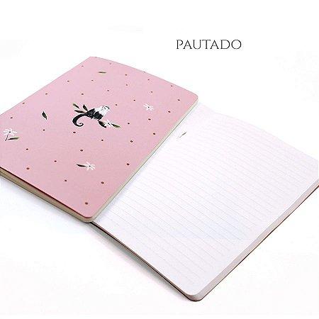 Caderno Pautado Cute Monkey Para Planner A.Craft Tamanho Padrão