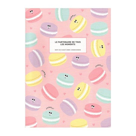 Caderno Brochura Le Paternaire De Tours Les Moments Macaron Rosa - Artbox