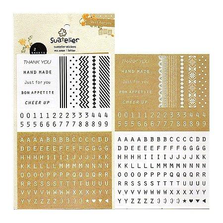 Adesivo Divertido Papel - Letter 2 Cartelas