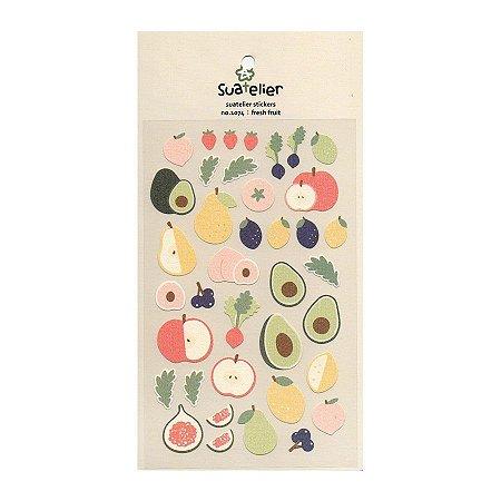 Adesivo Divertido Papel - Fresh Fruit