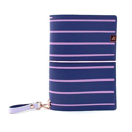 Capa Blueberry Listras (Para 4 Blocos) Para Planner A.Craft Tamanho Padrão