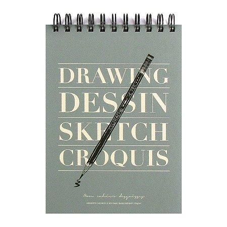 Caderno Para Desenho Espiral Drawing Dessin Sketch Croquis - Artbox