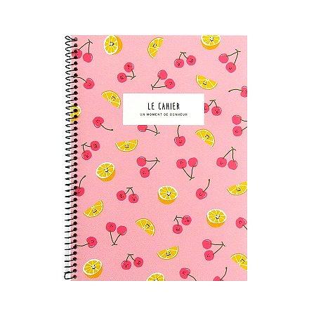 Caderno Espiral Médio Le Cahier Cerejas Laranjas Rosa - Artbox