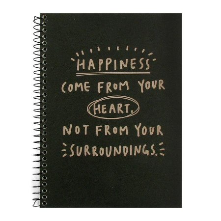 Caderno Espiral Sem Pauta Happiness Came From Your Heart - Artbox