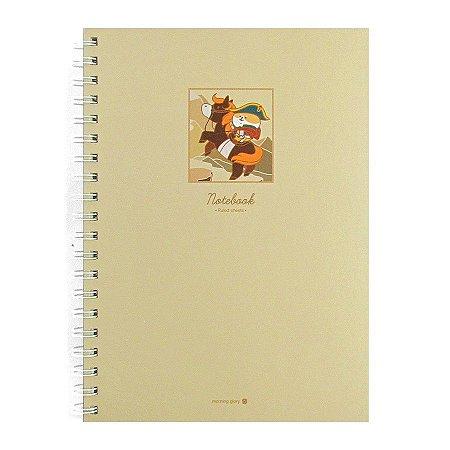 Caderno Espiral Capa Dura Notebook Napoleão Cruzando os Alpes - Morning Glory