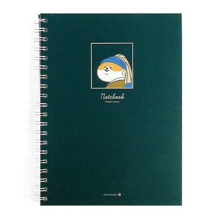 Caderno Espiral Capa Dura Notebook Moça Com o Brinco de Pérola - Morning Glory