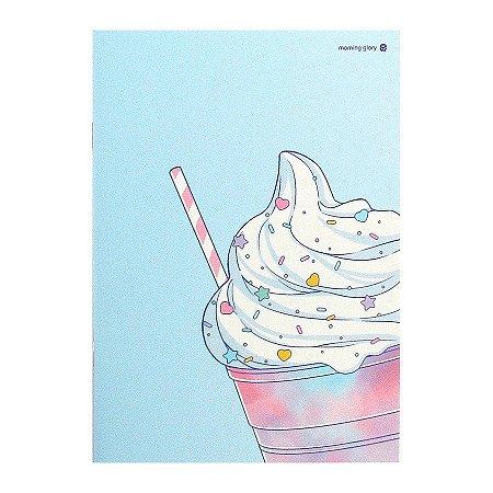 Caderno Brochura Milk Shake Azul M - Morning Glory
