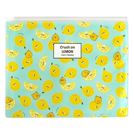 Pasta Plástica Zip Crush On Lemon Fruit Friends Limão Verde - Artbox