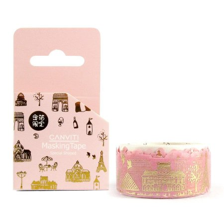 Fita Decorativa Washi Tape Canviti Masking Tape Paris Rosa