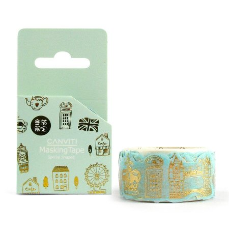 Fita Decorativa Washi Tape Canviti Masking Tape Londres Verde
