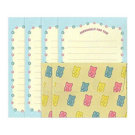 Papel de Carta Mini Letter Paper Gominha de Ursinho