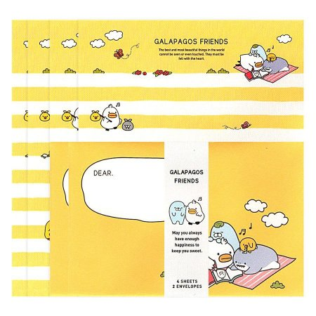 Papel de Carta Letter Set Galapagos Amarelo