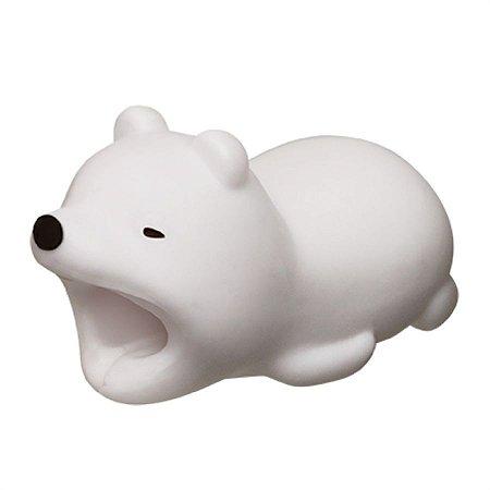 Enfeite e Protetor de Cabo iPhone Tipo Cable Bite - Urso Polar
