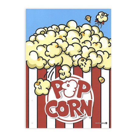 Caderno Brochura Pop Corn Pipoca - Morning Glory
