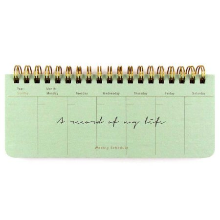 Agenda Semanal (Sem Data) Planner Espiral Artbox - A Word Of My Life Verde Água