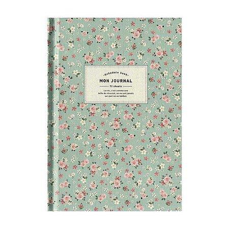 Agenda Permanente (Sem Data) Planner Mon Journal Floral Verde Água - Artbox