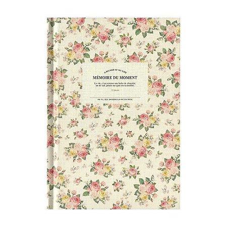 Agenda Permanente (Sem Data) Planner Mémoire Du Moment Floral Creme - Artbox