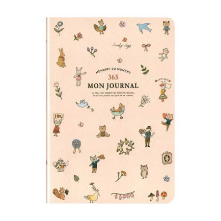 Agenda Permanente (Sem Data) Planner 365 Mon Journal Animais Rosa - Artbox
