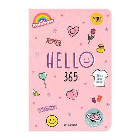 Agenda Permanente (Sem Data) Planner Hello 365 Rosa - Artbox