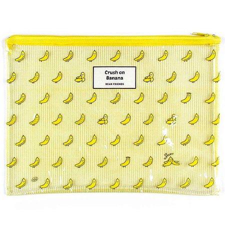 Pasta de Plástico com Zíper Crush On Banana Bean Friends - Artbox