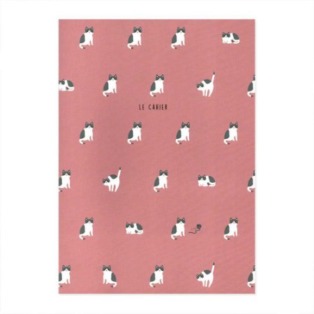 Caderno Brochura Le Cahier Gato Rosa - Artbox