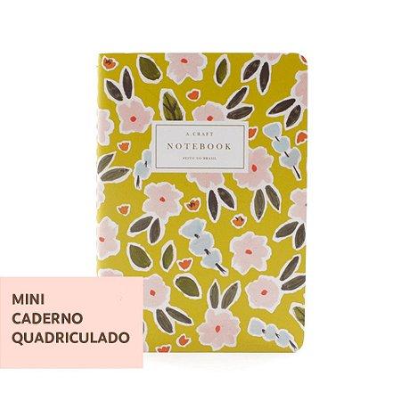 Mini Caderno Quadriculado Primavera Romântica Para Mini Planner A.Craft