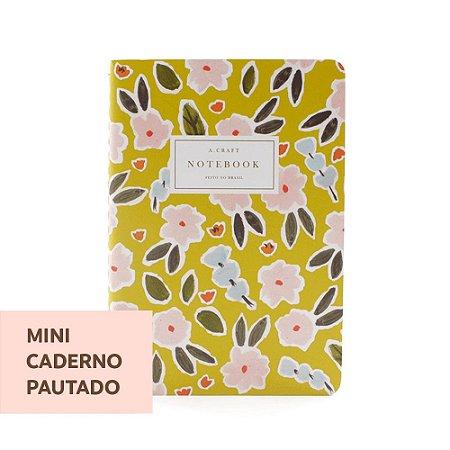 Mini Caderno Pautado Primavera Romântica Para Mini Planner A.Craft