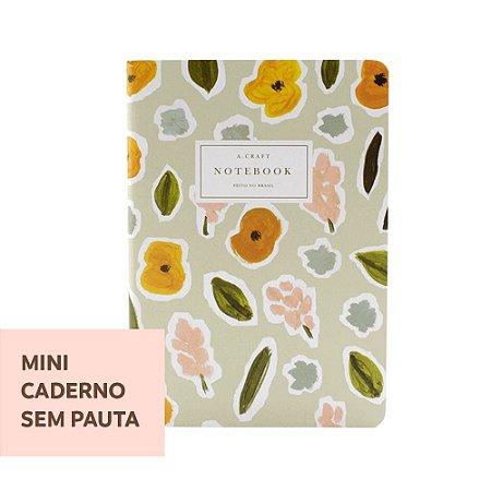 Mini Caderno Sem Pauta Flores de Outono Para Mini Planner A.Craft